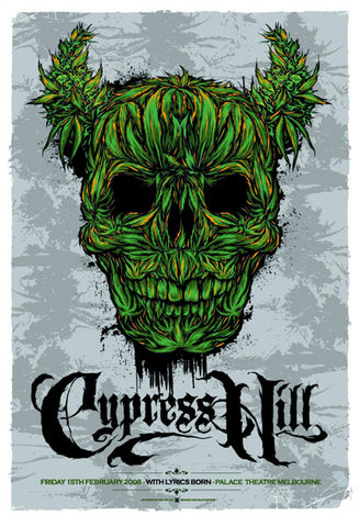 "Cypress Hill - Palace Theatre Melbourne 2008 Gig poster (27"" x 18.5"")"