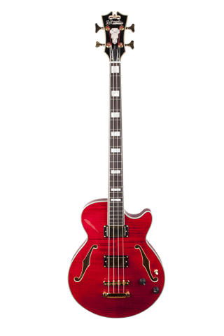 D'Angelico EX-BASS - Cherry (Gold hardware)