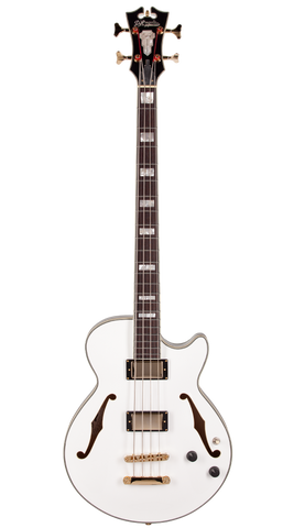 D'Angelico EX-BASS - White (Gold hardware)