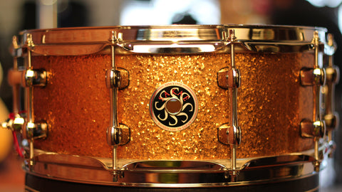Sakae Snare Drum Maple Righty Halo - (Gold Champagne)