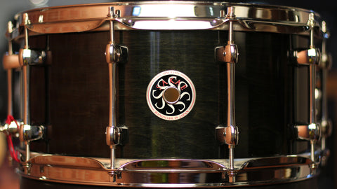 Sakae Snare Drum Maple Righty Halo - (See-through Black)
