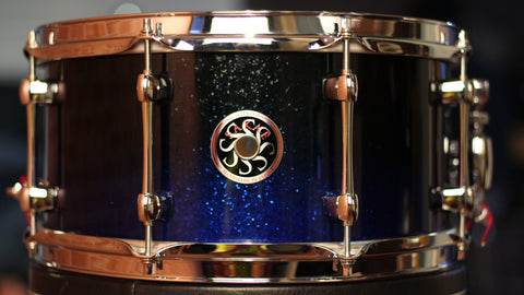 "Sakae Snare Drum Righty Halo 13"" × 6.5"" - (Black n' Blue)"