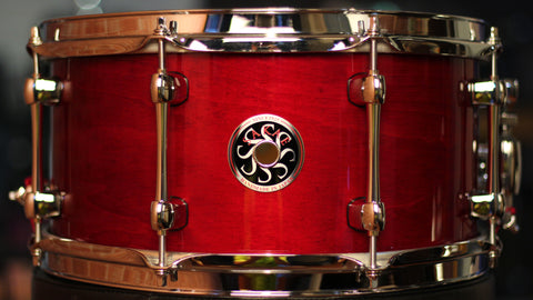 Sakae Snare Drum Righty Halo - (Blood)