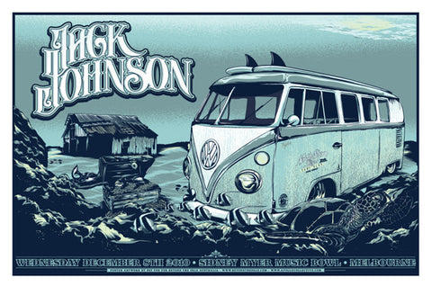"Jack Johnson - Melbourne, 2010 Gig poster (27"" x 18.5"")"