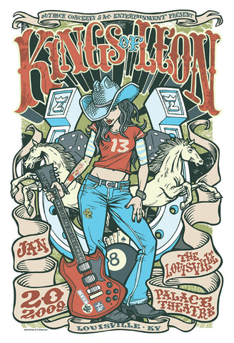 "Kings of Leon - The Louisville Palace Theater, 2009 Gig poster (27"" x 18.5"")"