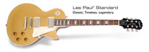 Epiphone Les Paul Standard (Metallic Goldtop) - With Hardcase