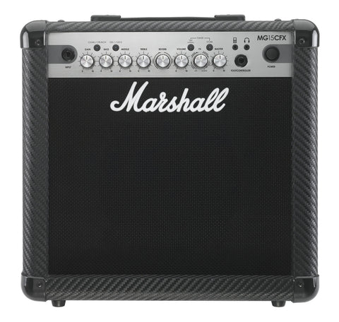 Marshall MG15CFX 15w Combo with FX | Carbon Fibre Finish