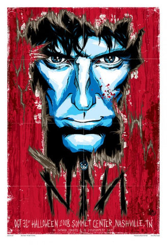 "Nine Inch Nails - Nashville, Tennessee 2008 Gig poster (27"" x 19"")"