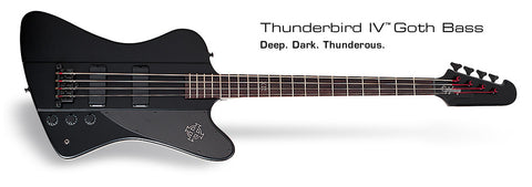 Epiphone Goth Thunderbird-IV (Pitch Black)