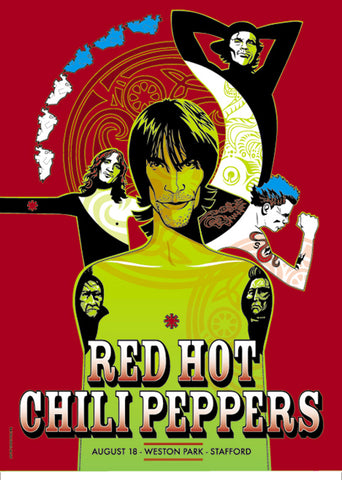 "Red Hot Chili Peppers - Weston Park, Stafford Gig poster (24"" x 17"")"