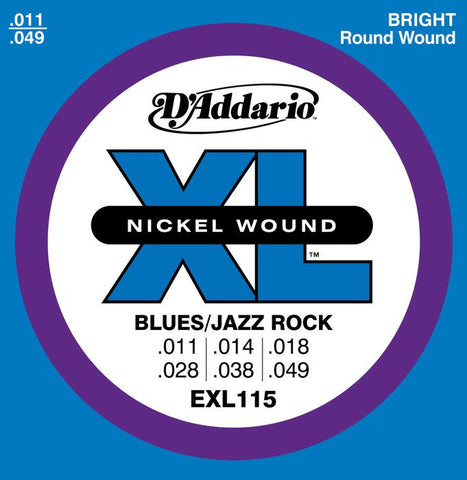 DAddario EXL115 Nickel Wound, Medium/Blues-Jazz Rock, 11-49