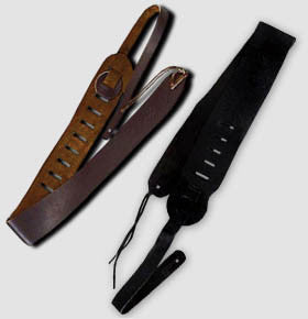 "Clayton USA Leather 3 1/2"" Guitar Strap"