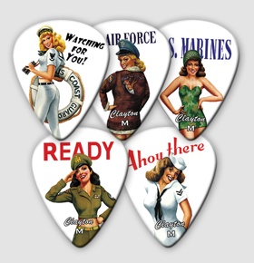 Clayton American Hotties Graphic Guitar Picks (AH)