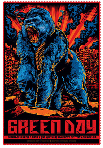 "Green Day - Duluth, Georgia 2009 Gig poster (27"" x 18.5"")"