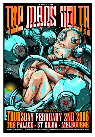 "The Mars Volta - Melbourne, 2006 Gig poster (28.5"" x 19.5"")"