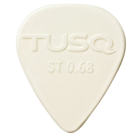 TUSQ Standard Pick .68mm White (Bright) - 6 Pack