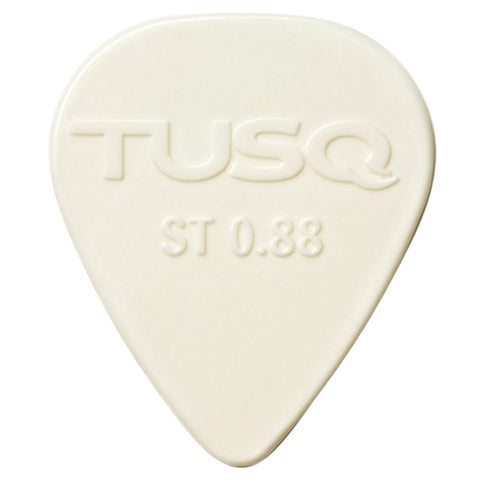 TUSQ Standard Pick .88mm White (Bright) - 6 Pack