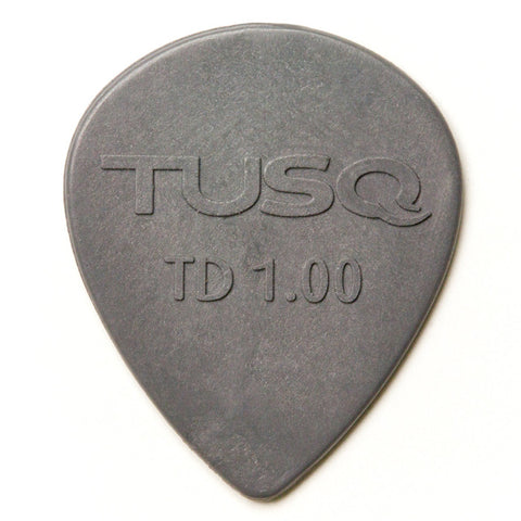 TUSQ Tear Drop Pick 1mm Gray (Deep) 6 Pack