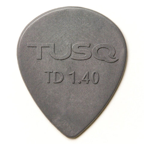 TUSQ Tear Drop Pick 1.4mm Gray (Deep) 6 Pack