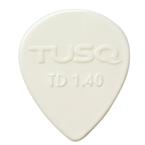 TUSQ Tear Drop Pick 1.4mm White (Bright) 6 Pack