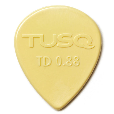 TUSQ Tear Drop Pick .88mm Vintage (Warm) 6 Pack