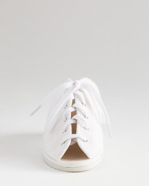 Garbo White Summer Wedge