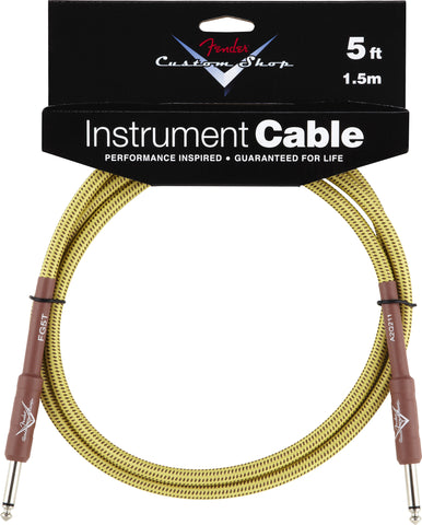 Fender® Custom Shop Performance Series Cable, 5', Tweed