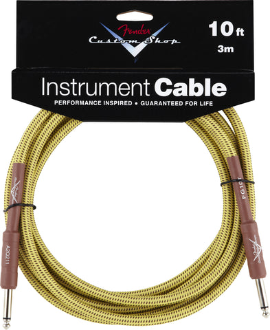 Fender® Custom Shop Performance Series Cable, 10', Tweed