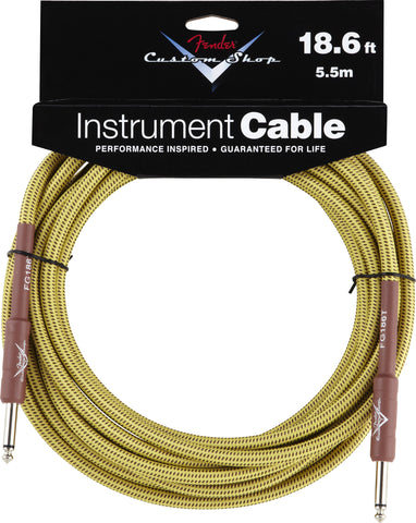 Fender® Custom Shop Performance Series Cable, 18.6', Tweed