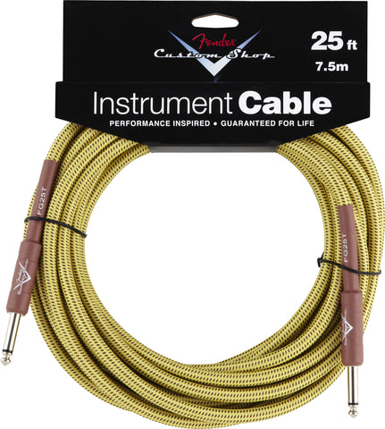 Fender® Custom Shop Performance Series Cable, 25', Tweed