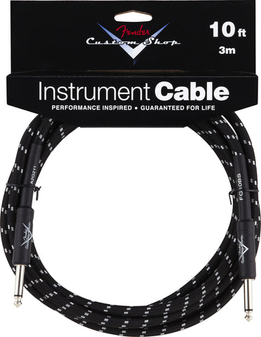 Fender® Custom Shop Performance Series Cable Angeled connector, 10', Black