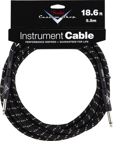 Fender® Custom Shop Performance Series Cable, 18.6', Black