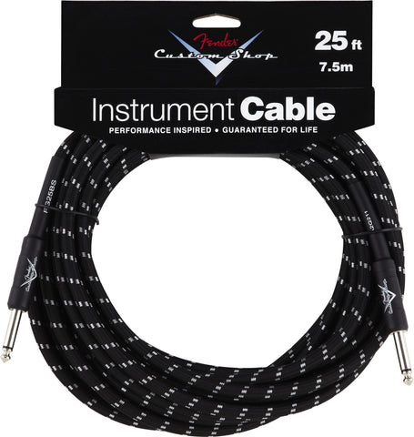 Fender® Custom Shop Performance Series Cable, 25', Black