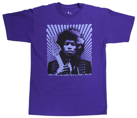 "Fender® Jimi Hendrix ""Kiss the Sky"" T-Shirt, Purple, XL"