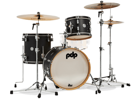 "PDP Concept Maple Classic 3-piece Shell Pack with 18"" Bass - Ebony Stain"