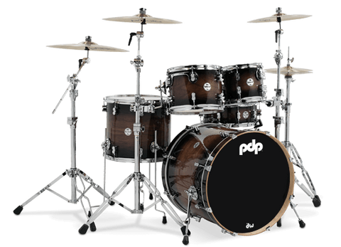 PDP Concept Maple Exotic Shell Pack - 5-piece - Charcoal Burst over Walnut