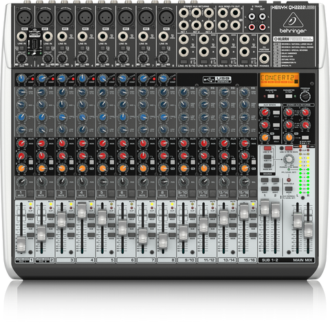 Behringer Xenyx QX2222USB Mixer with USB and Effects