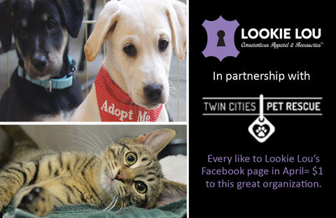 Twin Cities Pet Rescue and Lookie Lou Team Up