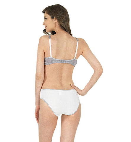 Organic Basics Hipster Panty in White and Lilac by Brook There (FS)