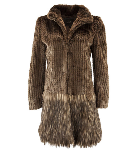 A Cappella Coat in Chocolate by Unreal Fur (FS)