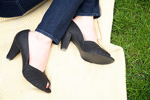 April Heel in Black by Roni Kantor