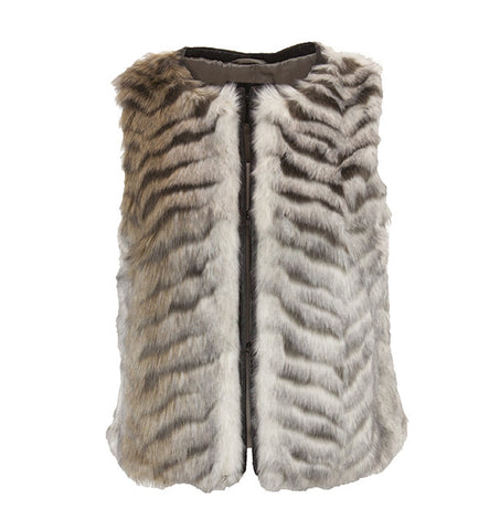 Fly Away Vest in Multi Gray by Unreal Fur (FS)