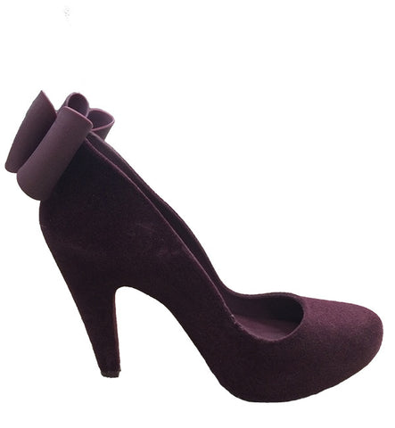 Incense Heel in Burgundy by Melissa