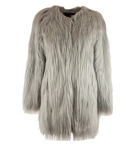 Wanderlust Coat in Gray by Unreal Fur (FS)