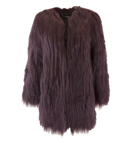 Wanderlust Coat in Raisin by Unreal Fur (FS)