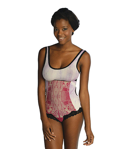 Anatomical Harmonia Bodysuit in Rubelite by Clare Bare (FS)
