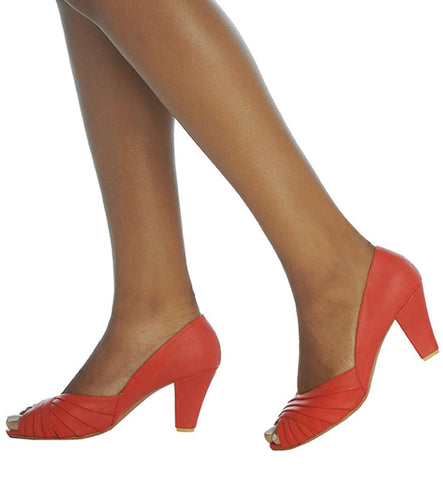 April Heel in Red by Roni Kantor