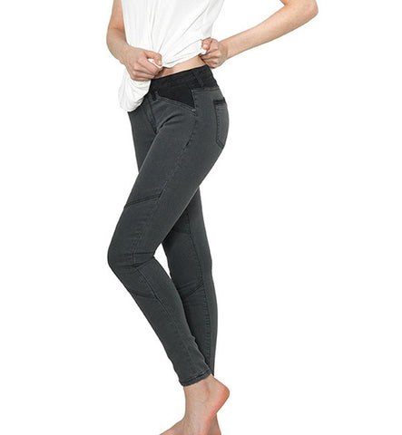 Ava Moto Jegging in Black Stretch Steel by Agave Denim