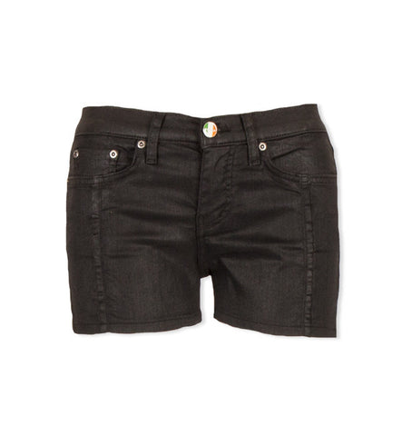 Belden Shorts in Satin Black by Sonas