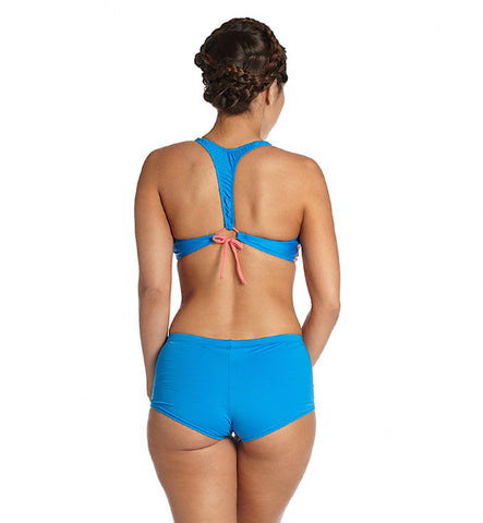 Bombora Top in Azure and Coral by Odina (FS)